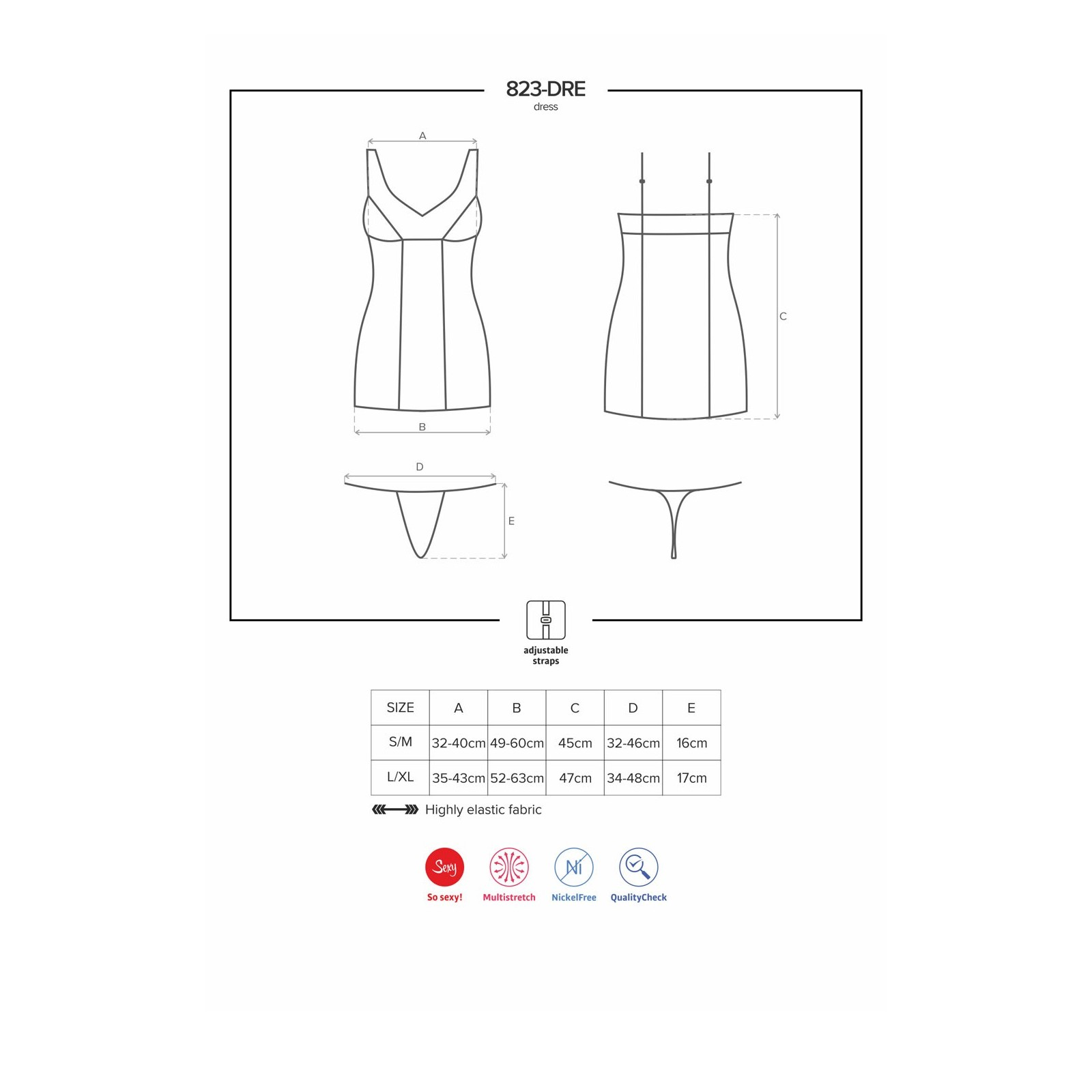 823-DRE-1 Dress schwarz - 7 - Vorschaubild