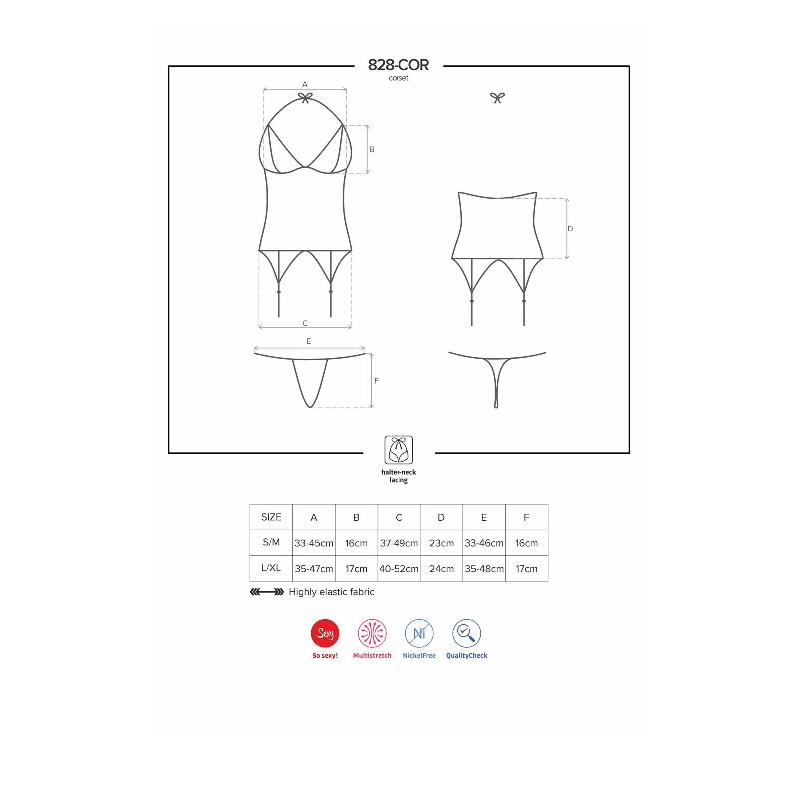 828-COR-1 Corsage schwarz - 7 - Vorschaubild