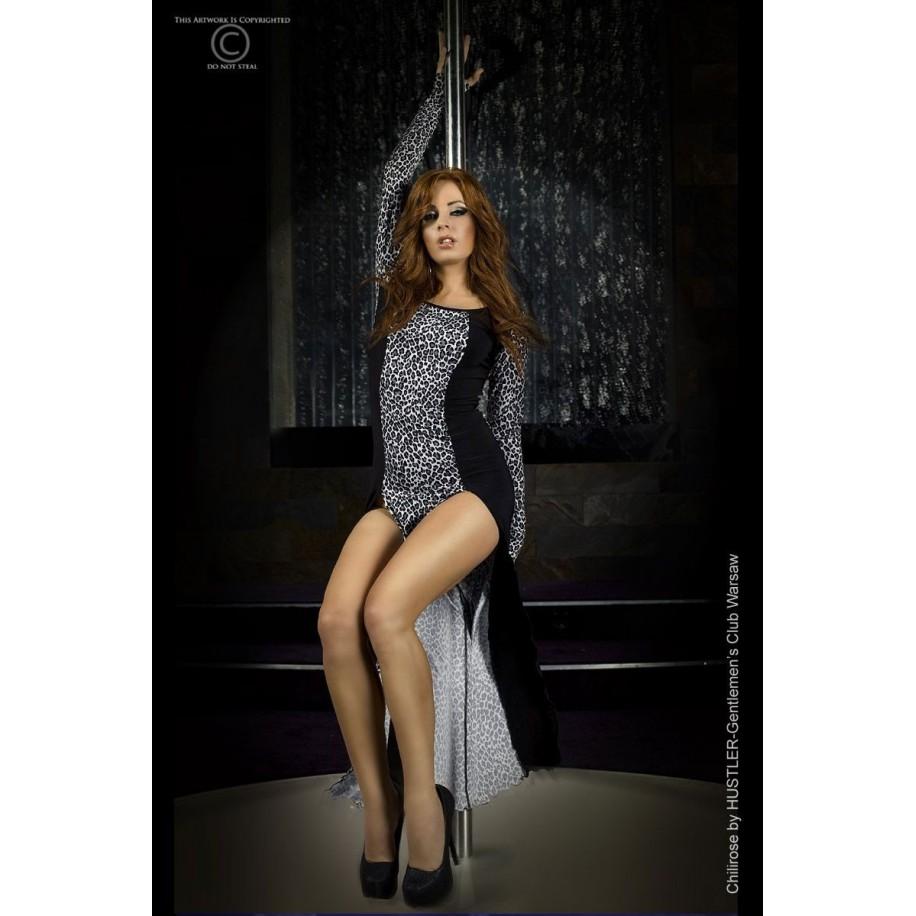 Langes Kleid CR3405 grau - 1