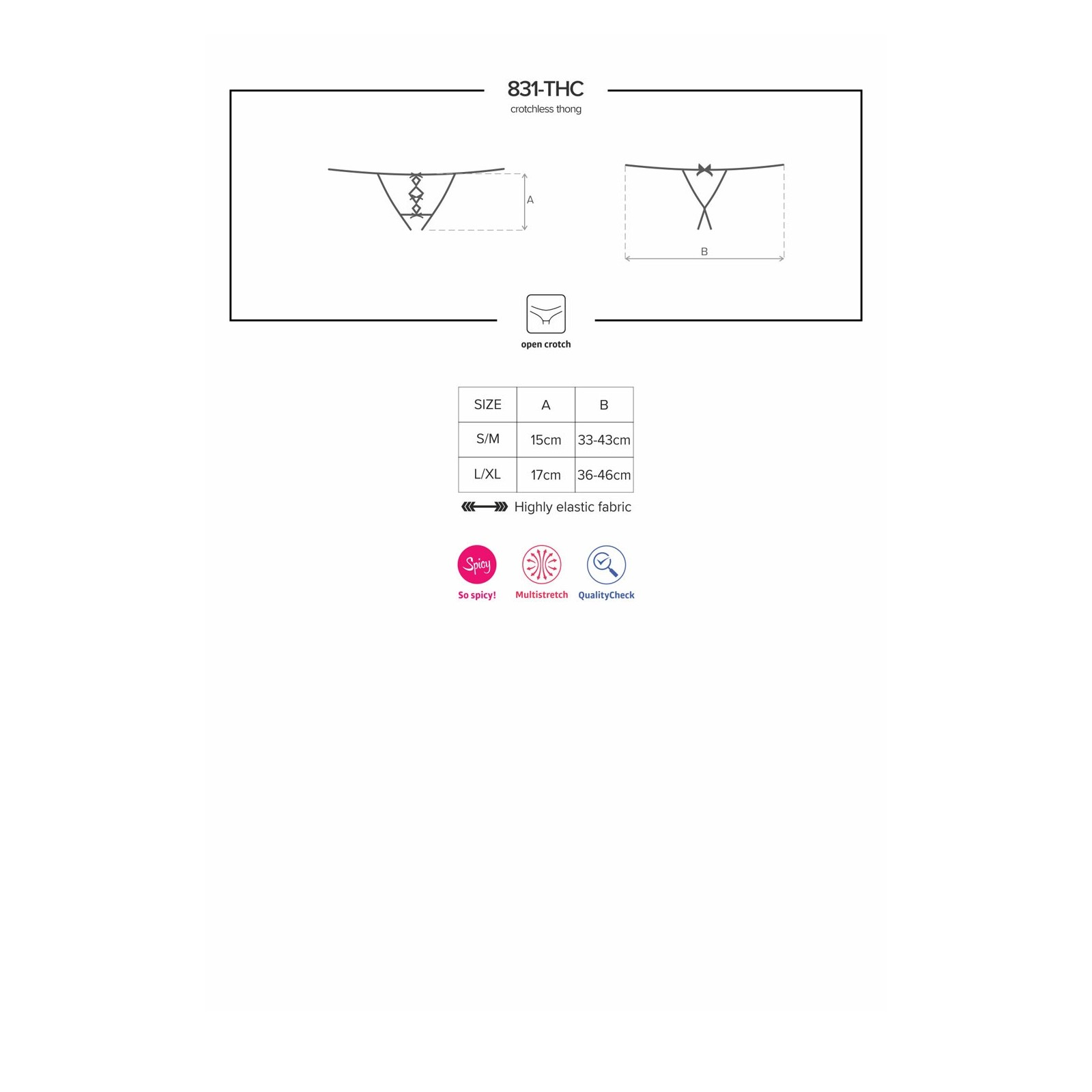 831-THC-1 Crotchless Thong - 9 - Vorschaubild