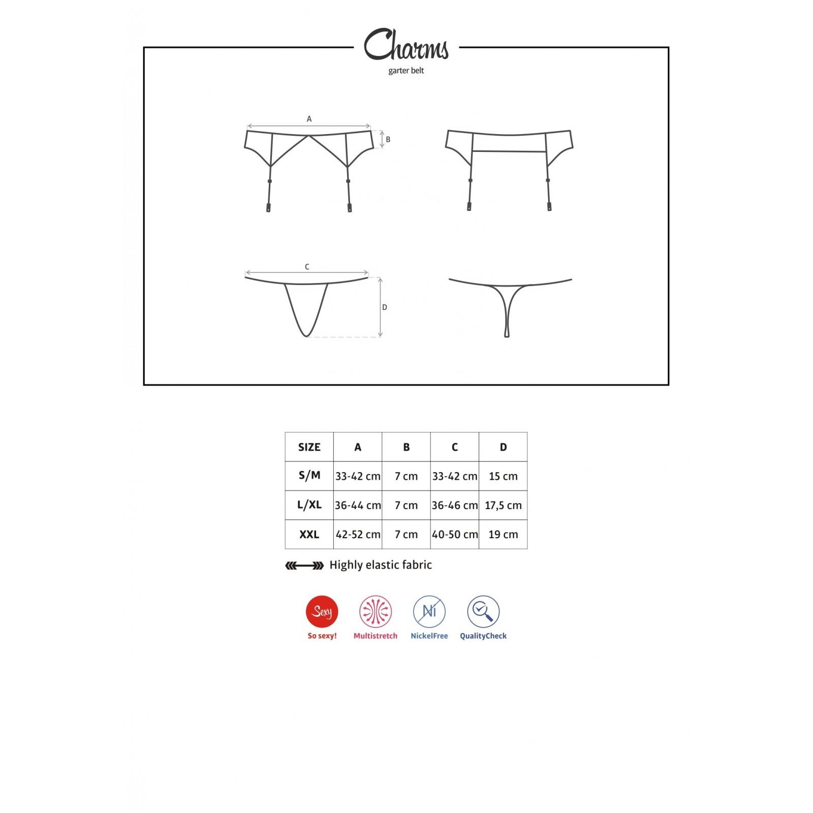 Charms Garter Belt & String schwarz - 3 - Vorschaubild
