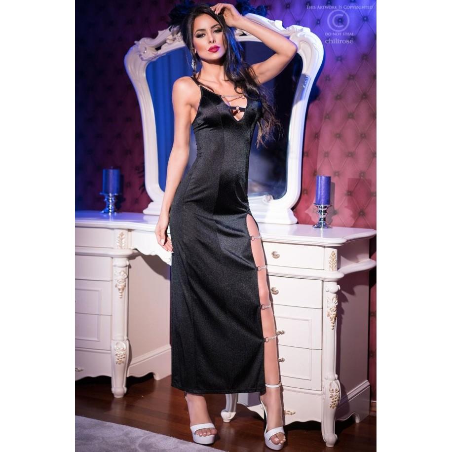 Langes Kleid CR4164 schwarz - 1