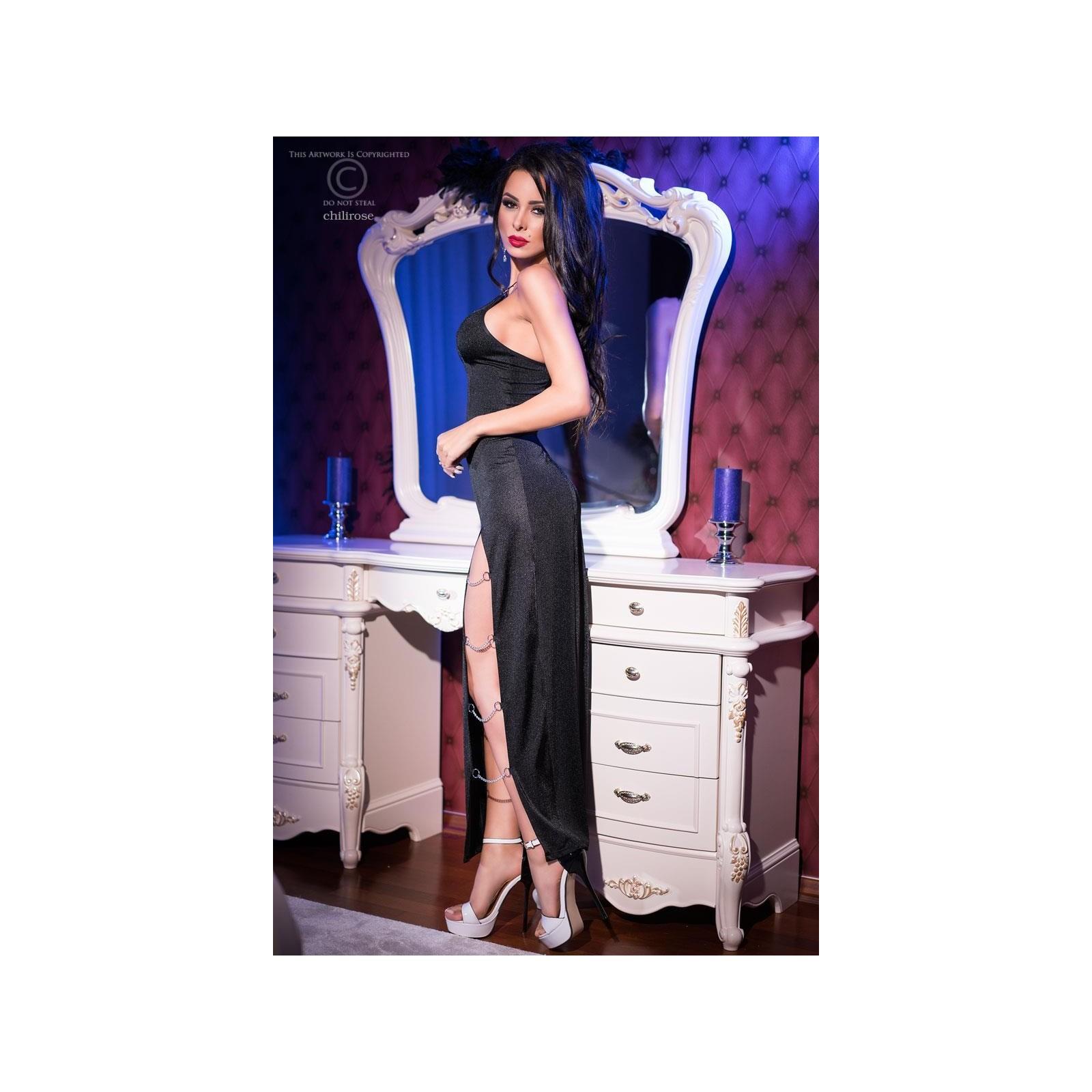 Langes Kleid CR4164 schwarz - 2 - Vorschaubild