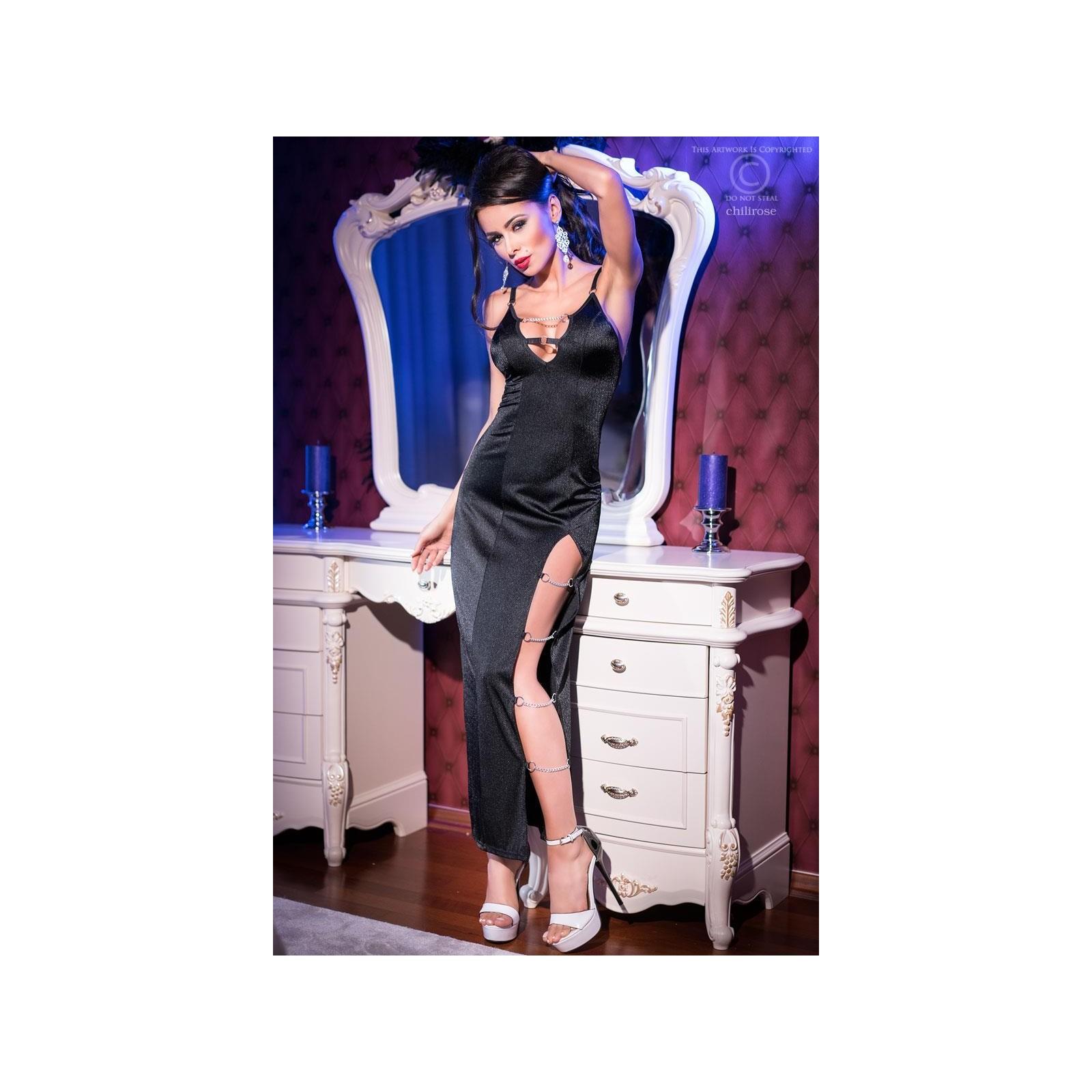 Langes Kleid CR4164 schwarz - 3 - Vorschaubild