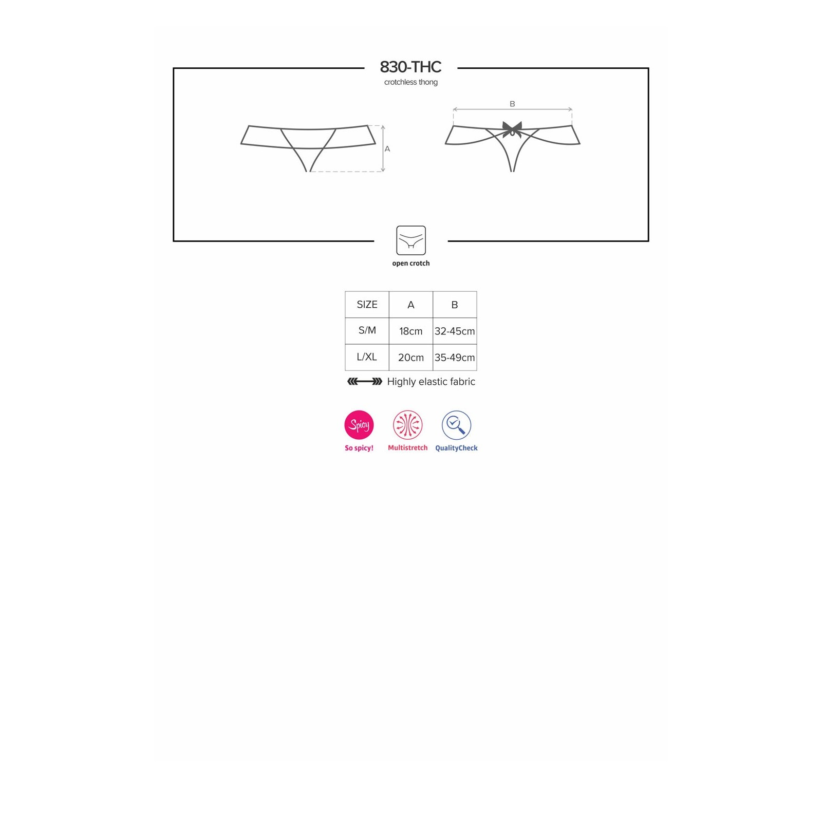 830-THC-1 Crotchless Thong - 9 - Vorschaubild