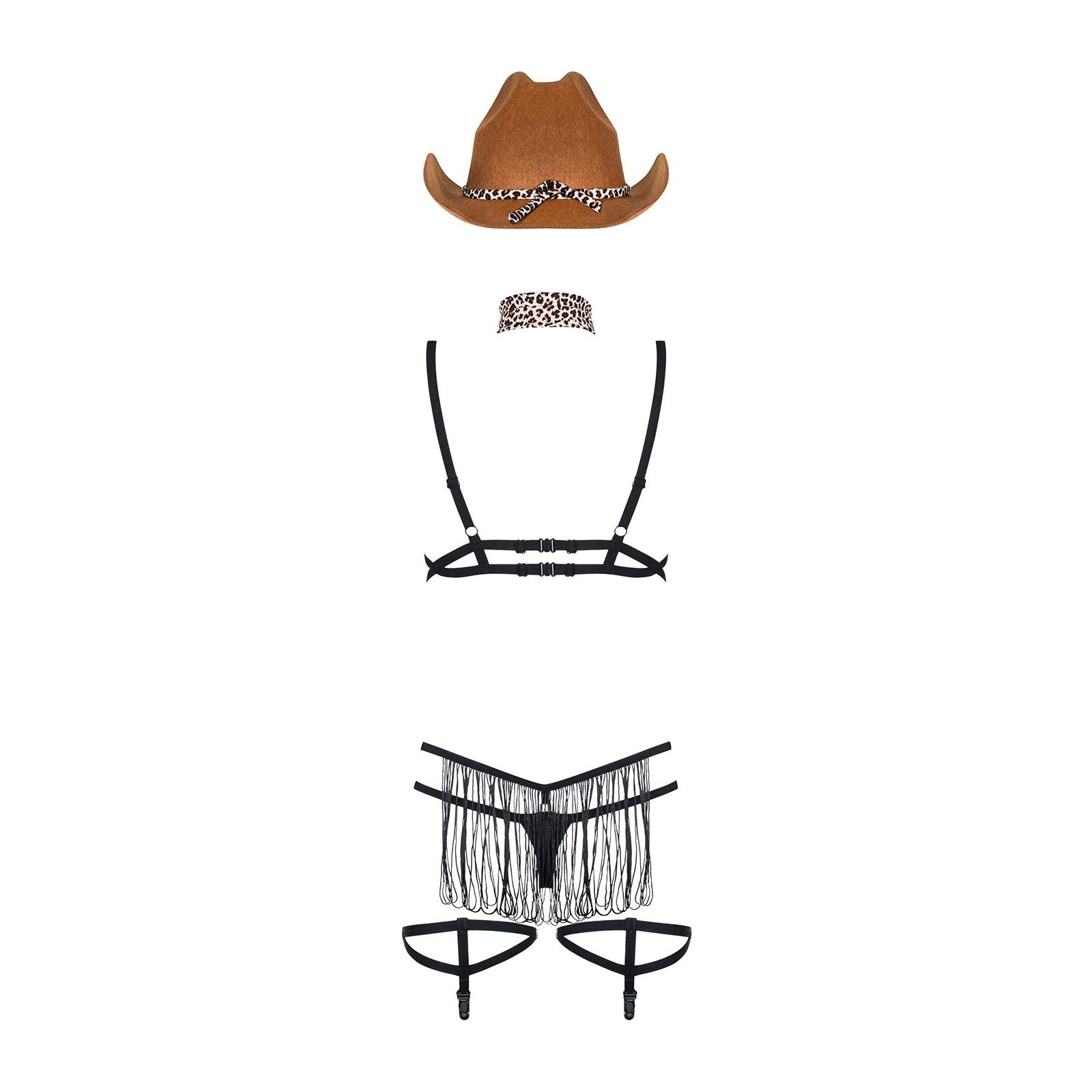 832-CST-1 Cowgirl-Kostüm - 6 - Vorschaubild