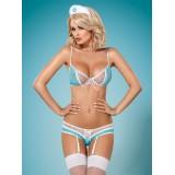 834-CST-6 Nurse-Kostüm - 1 - Vorschaubild