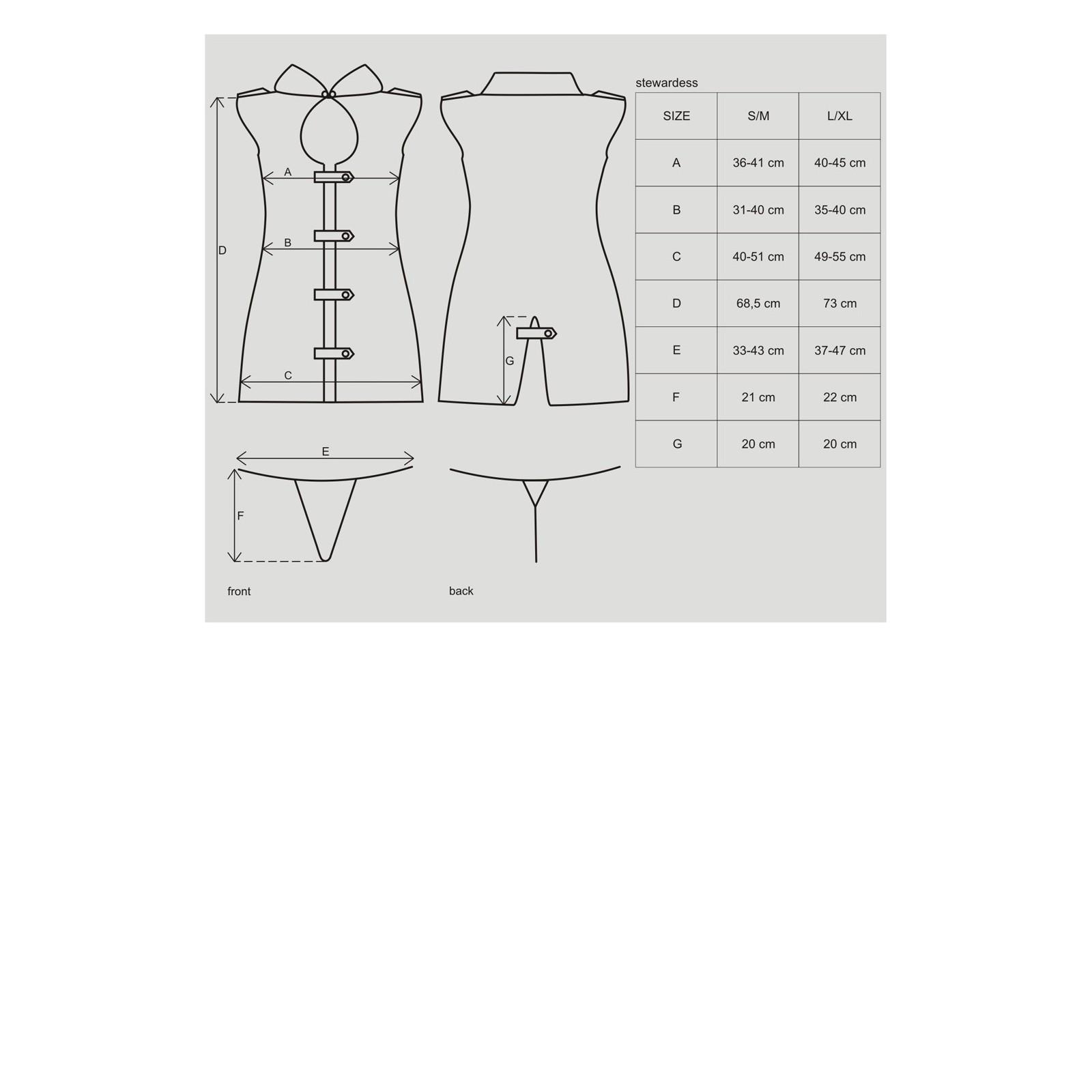 Stewardess-Kostüm grau - 5 - Vorschaubild