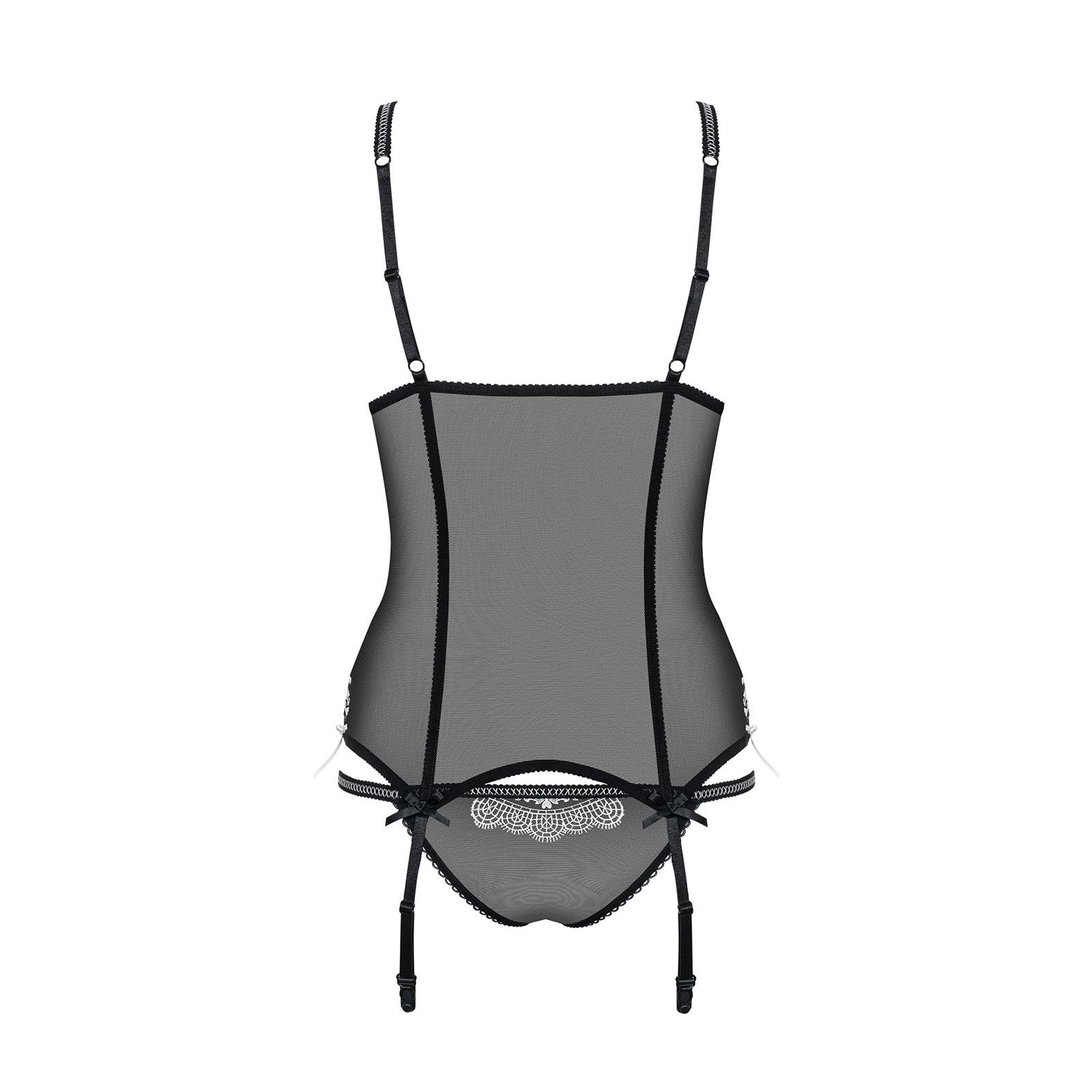840-COR-1 Corsage schwarz - 6 - Vorschaubild