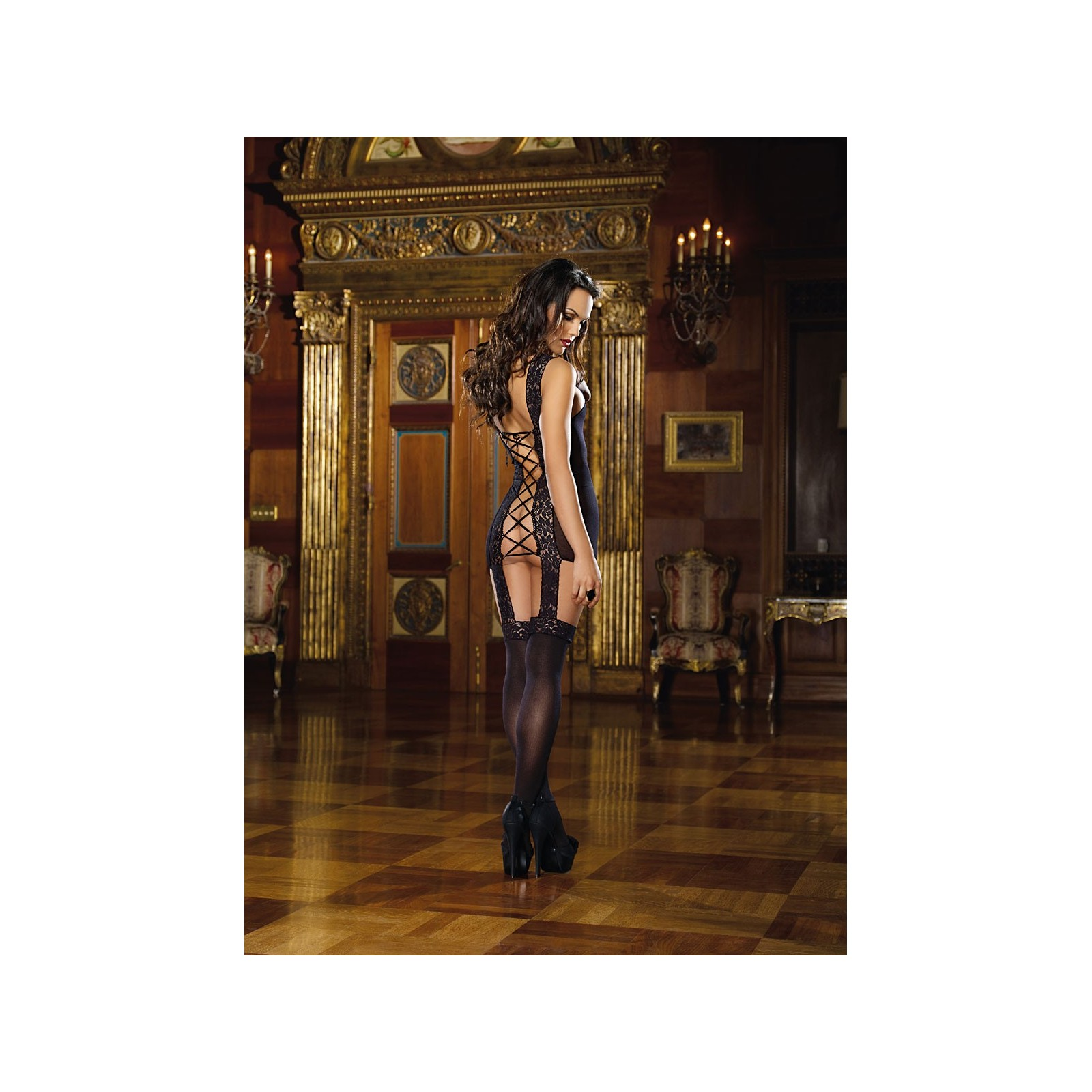 Garter Dress DR0144 schwarz - 2 - Vorschaubild
