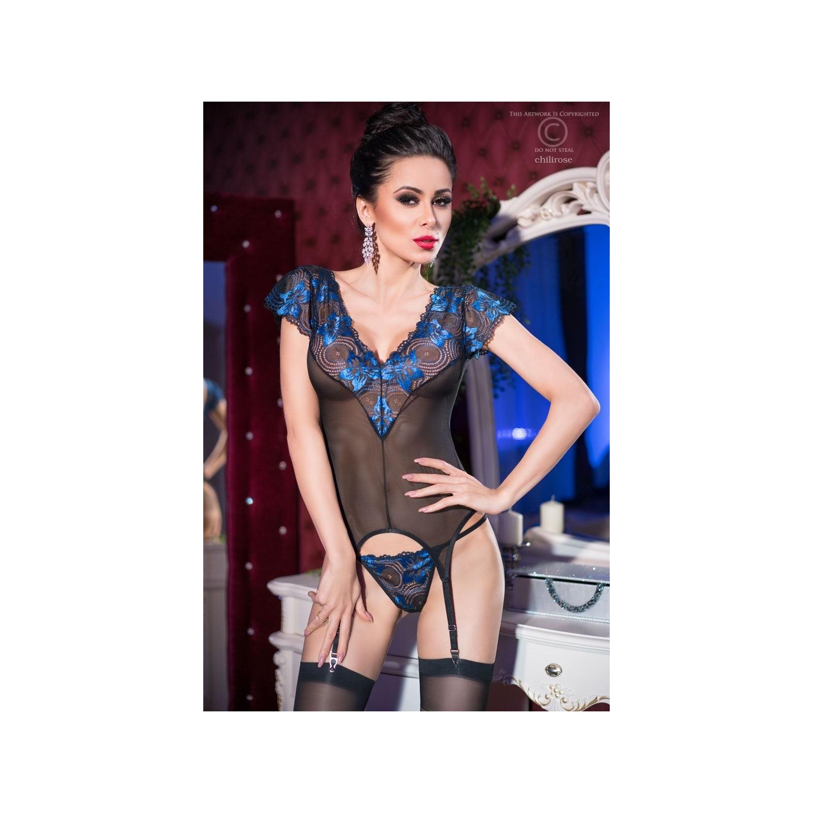 Spitzen-Set CR4197 blau/schwarz - 1 - Vorschaubild