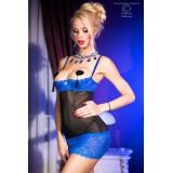 Babydoll CR3785 schwarz/blau - 4 - Vorschaubild