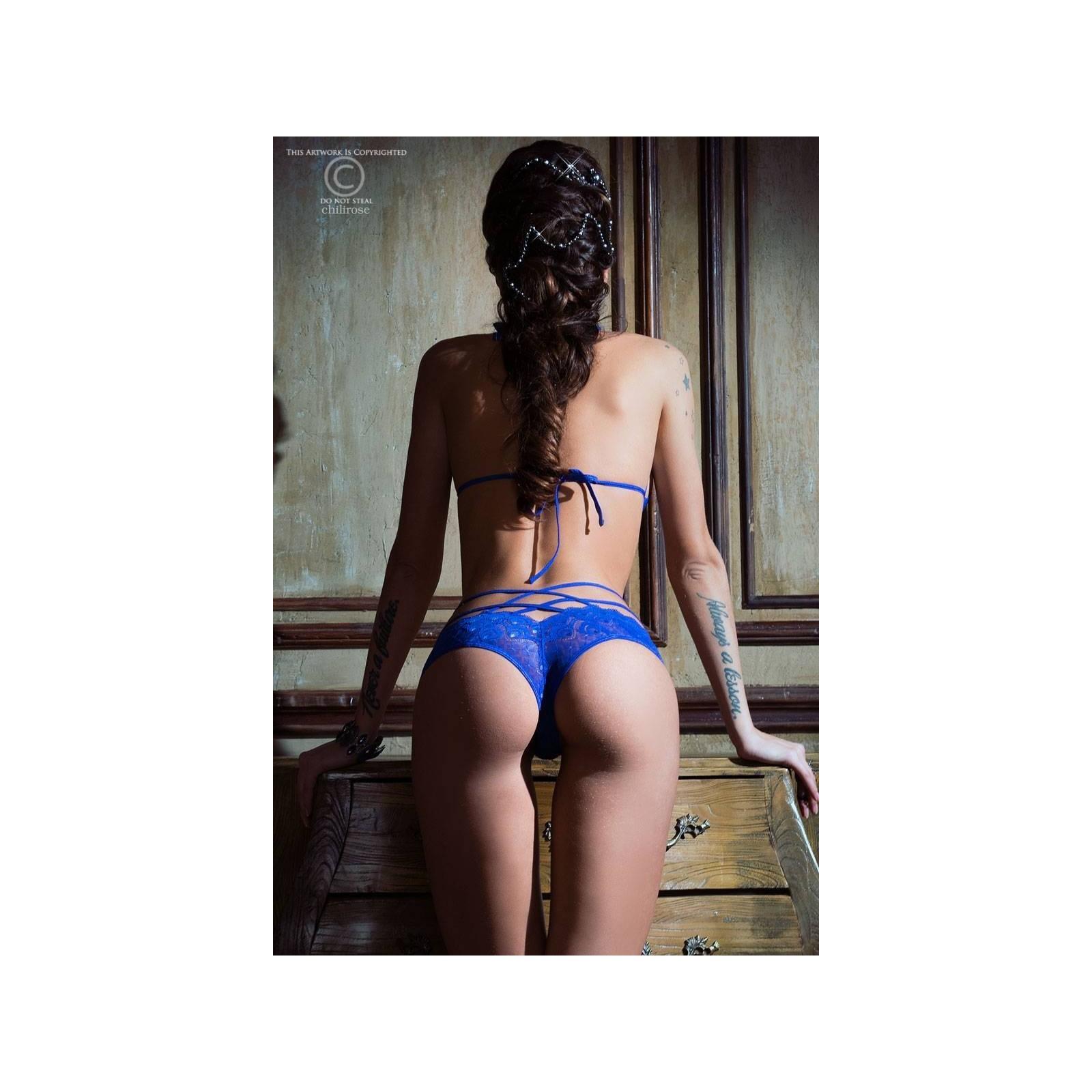 Spitzen-Set CR3786 blau - 4 - Vorschaubild