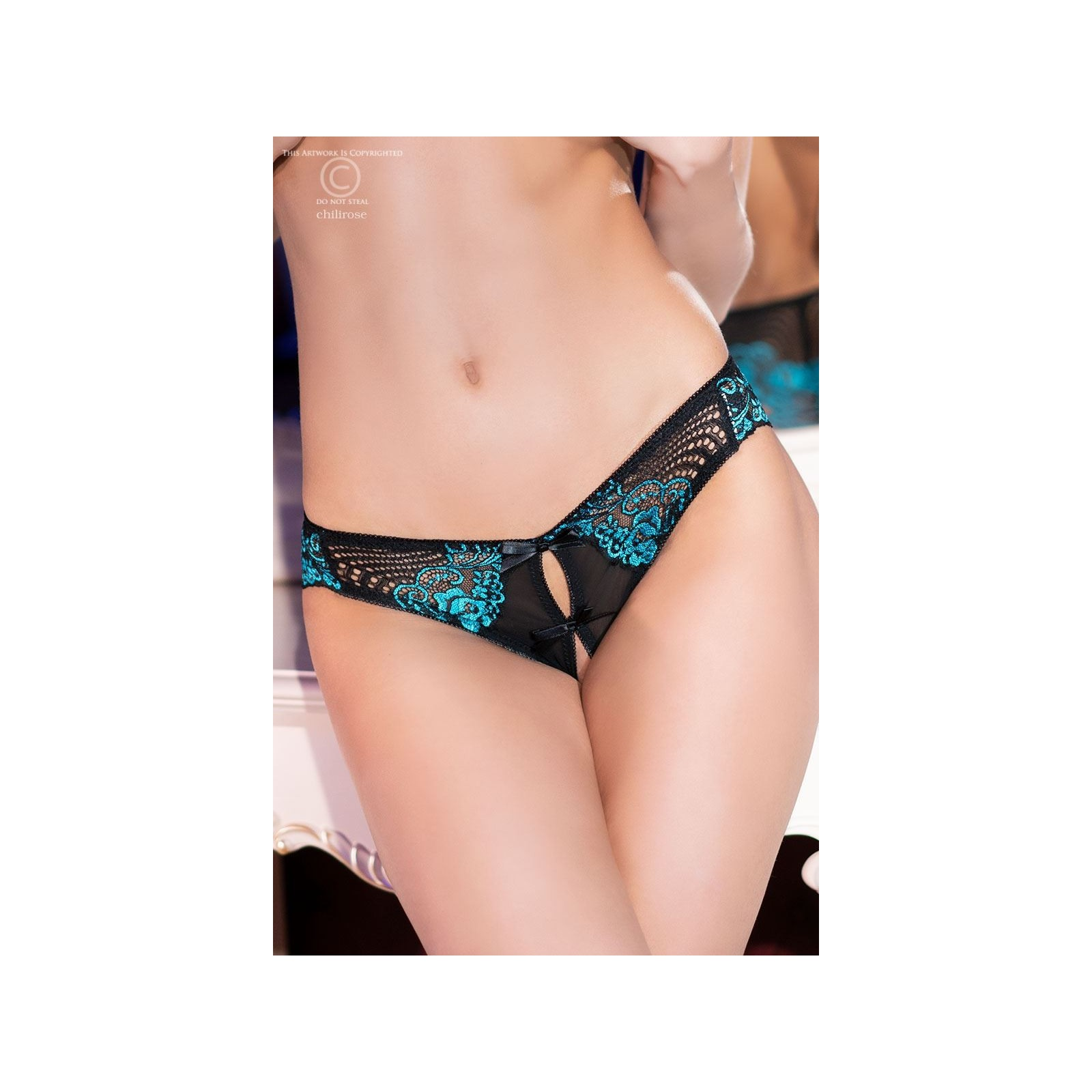 Panties CR4216 schwarz/blau - 3 - Vorschaubild
