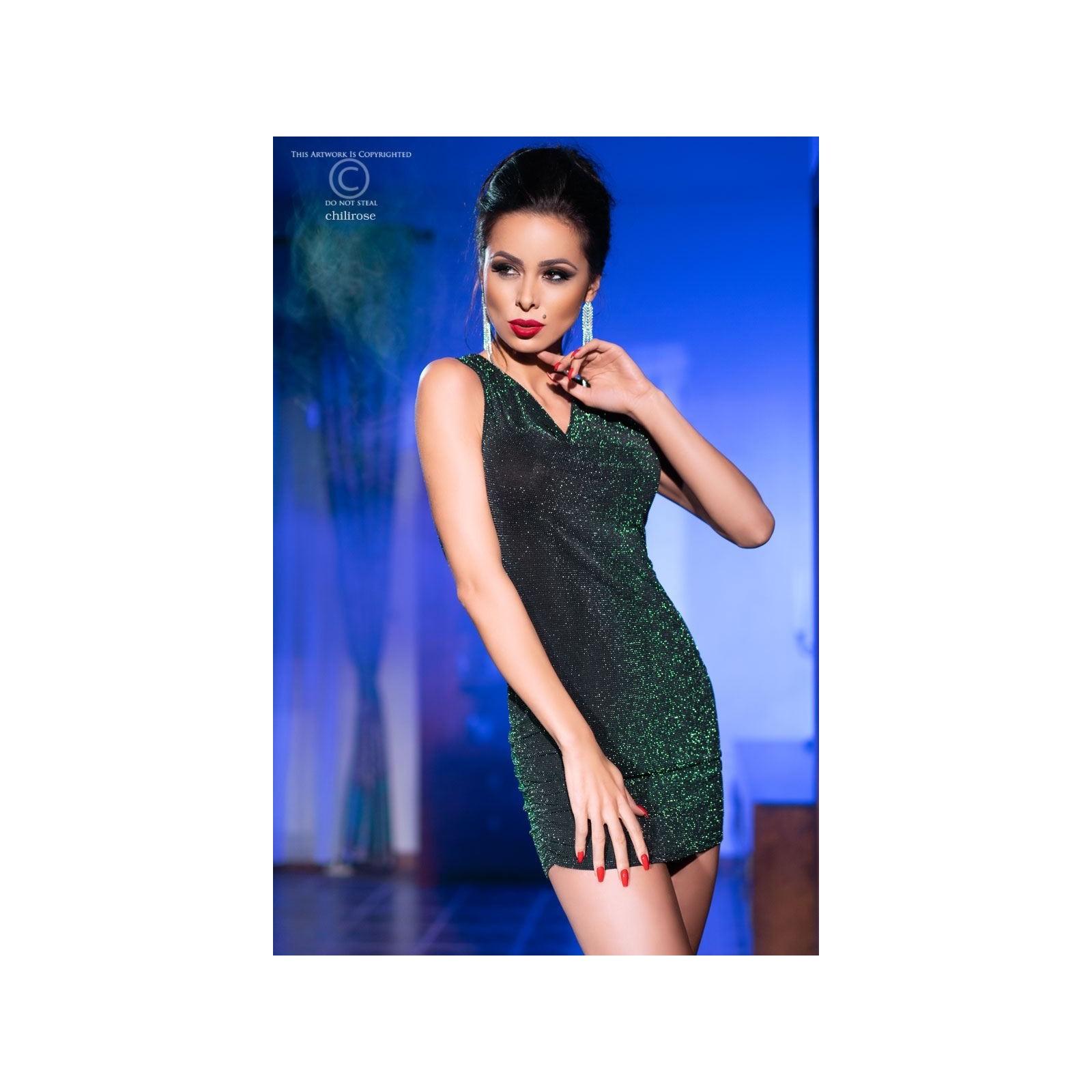 Minikleid CR4238 schwarz/grün - 1 - Vorschaubild