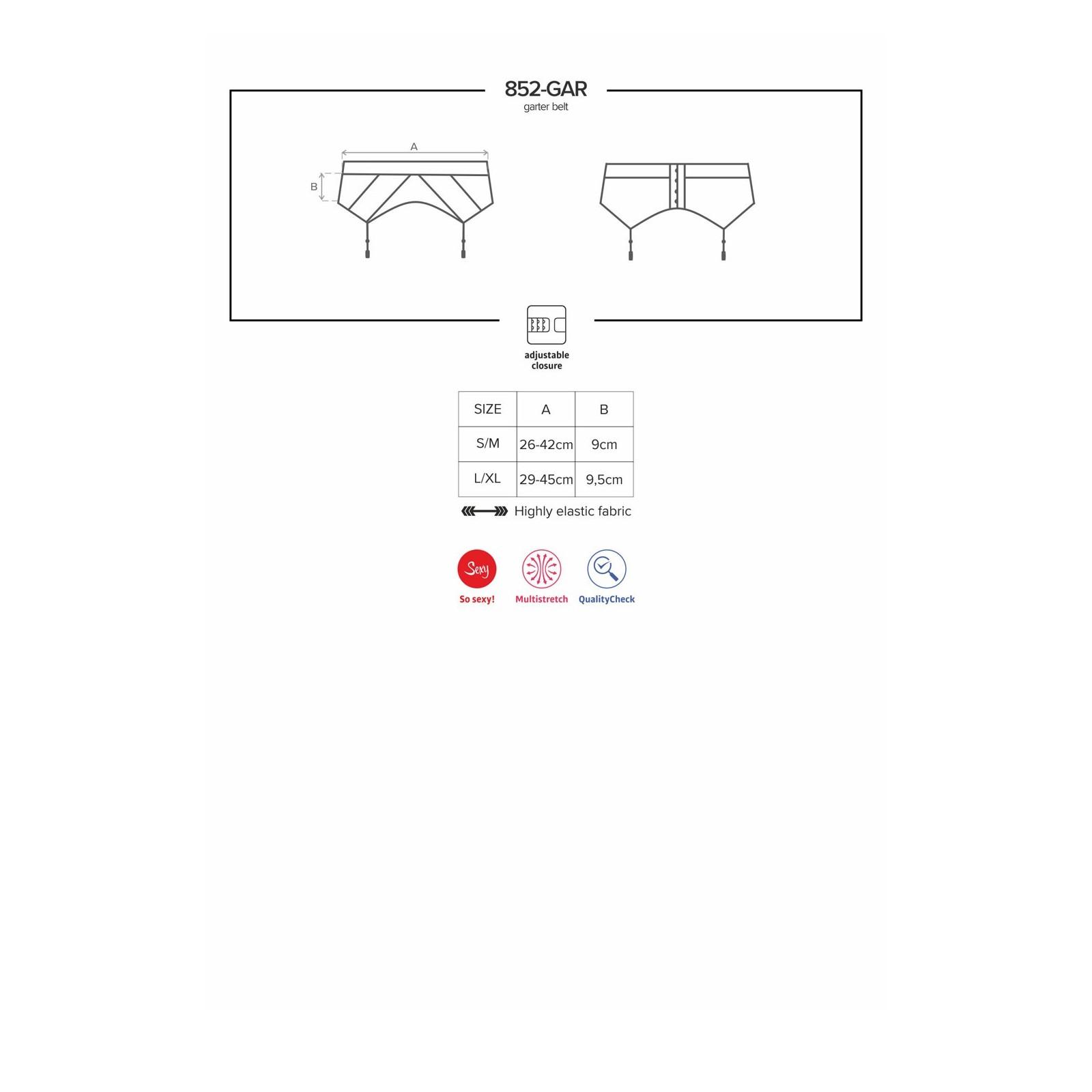 852-GAR-1 Garter Belt schwarz - 7 - Vorschaubild