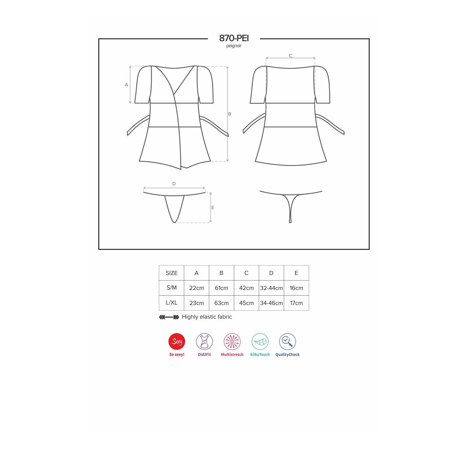 870-PEI-3 Peignoir rot - 7 - Vorschaubild
