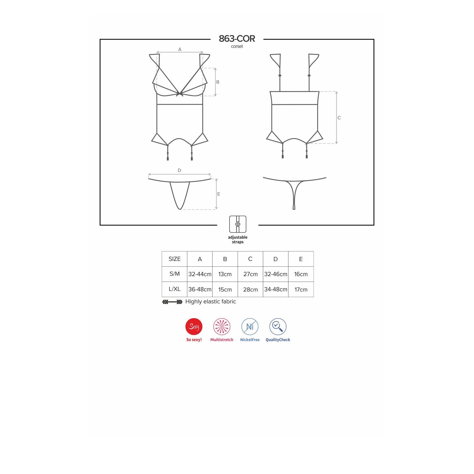 863-COR-3 Corsage rot - 7 - Vorschaubild