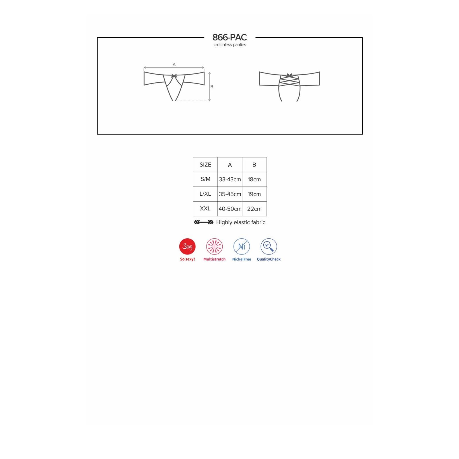 866-PAC-1 Crotchless Panties schwarz - 9 - Vorschaubild