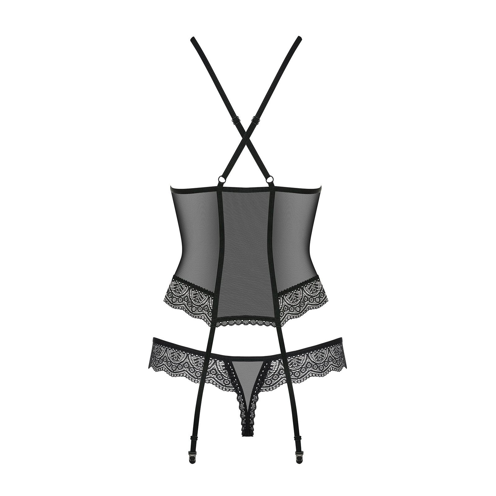 864-COR-1 Corsage schwarz - 6 - Vorschaubild