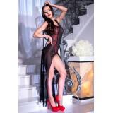 Langes Kleid CR4250 schwarz/rot - 3