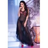Langes Kleid CR4251 schwarz/rot - 3