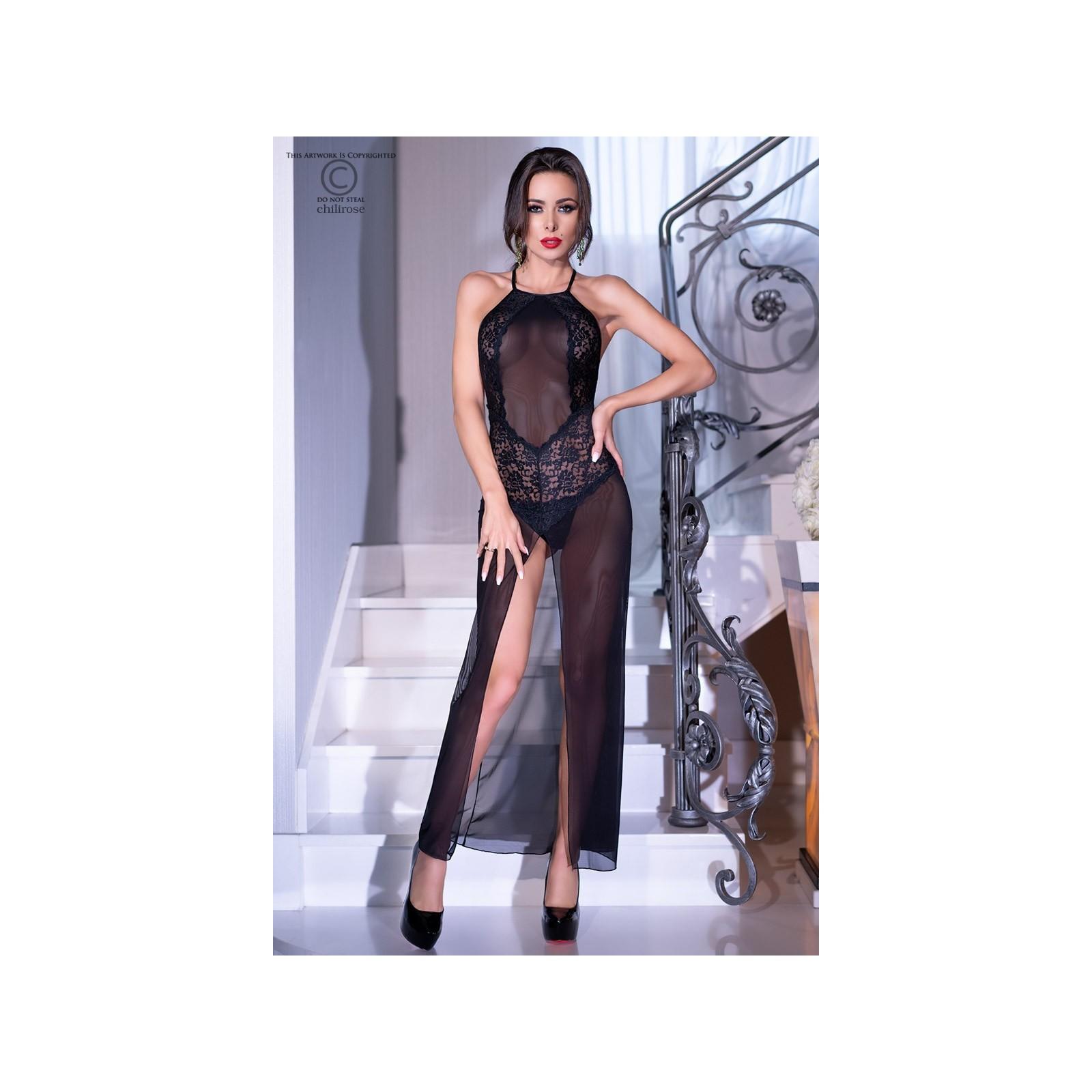 Langes Kleid CR4269 schwarz - 1 - Vorschaubild