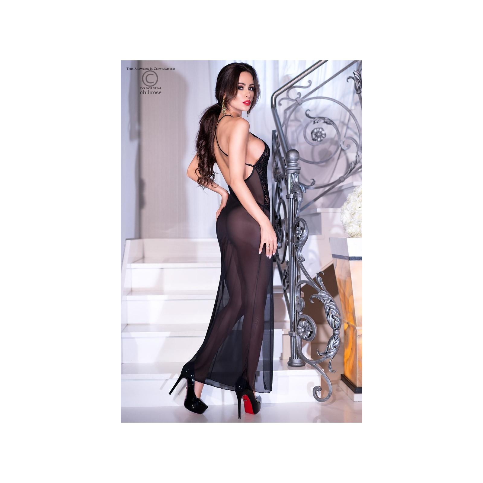 Langes Kleid CR4269 schwarz - 2 - Vorschaubild