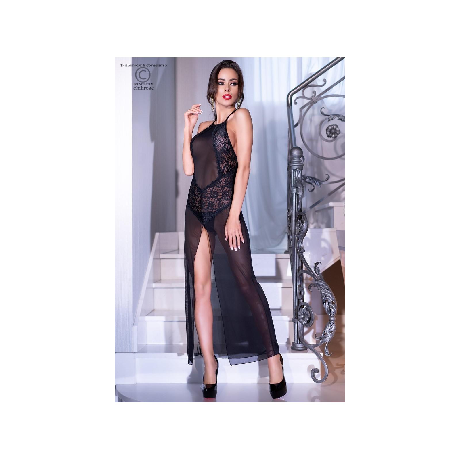 Langes Kleid CR4269 schwarz - 3 - Vorschaubild
