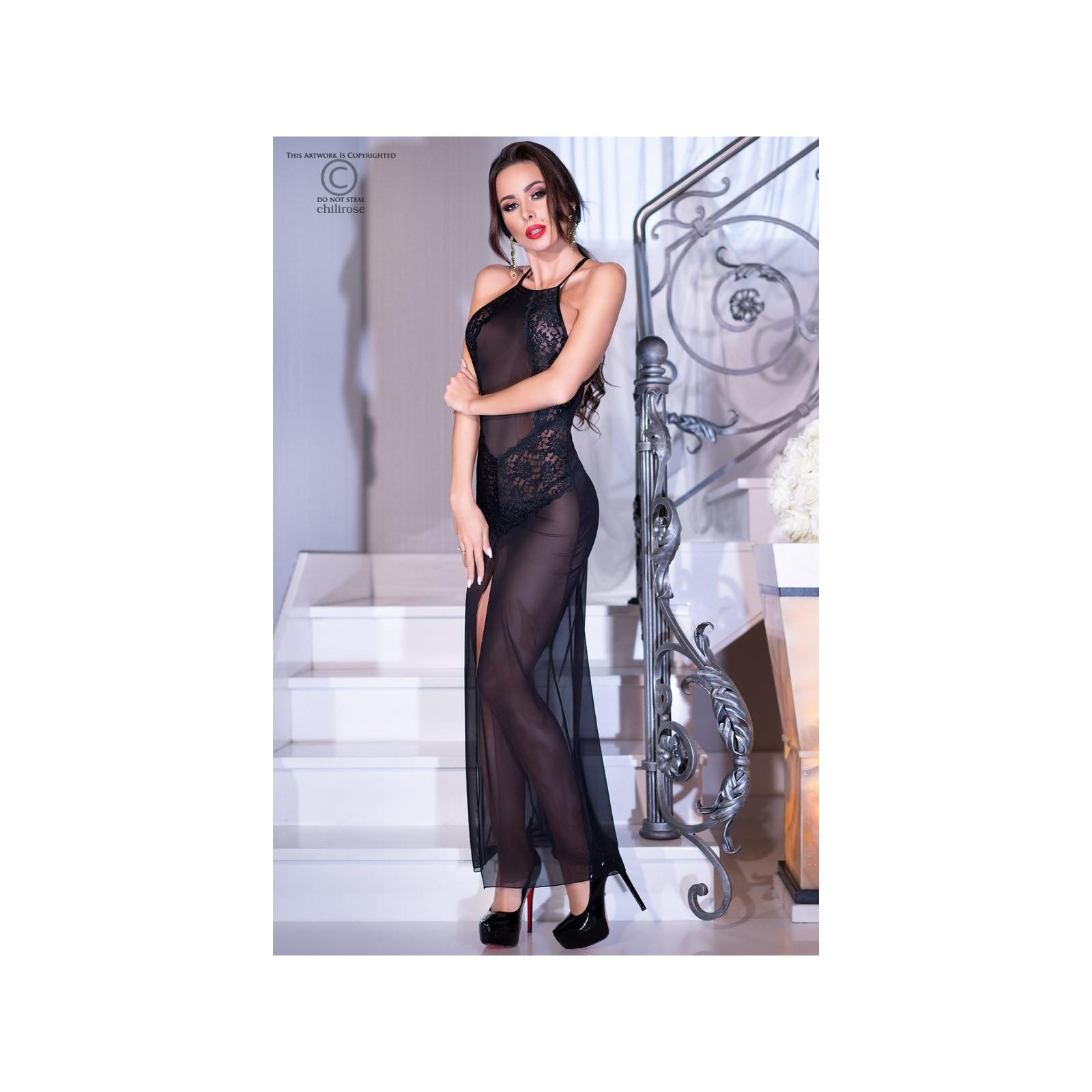 Langes Kleid CR4269 schwarz - 5 - Vorschaubild