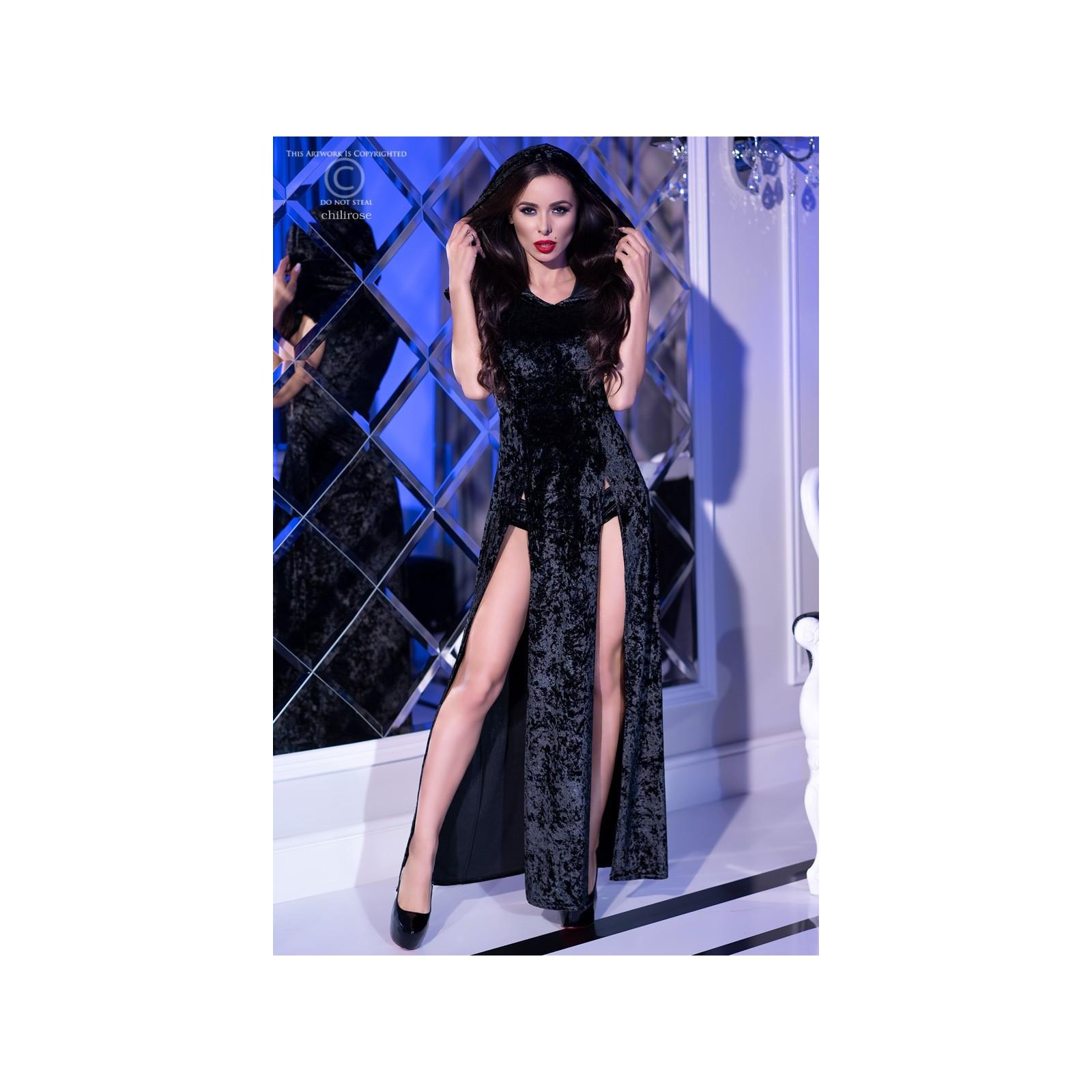 Kleid mit Kapuze CR4302 schwarz - 1 - Vorschaubild