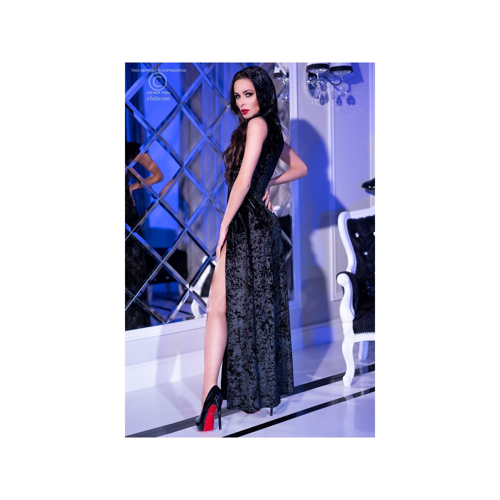 Kleid mit Kapuze CR4302 schwarz - 2 - Vorschaubild