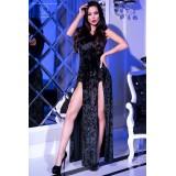 Kleid mit Kapuze CR4302 schwarz - 3 - Vorschaubild