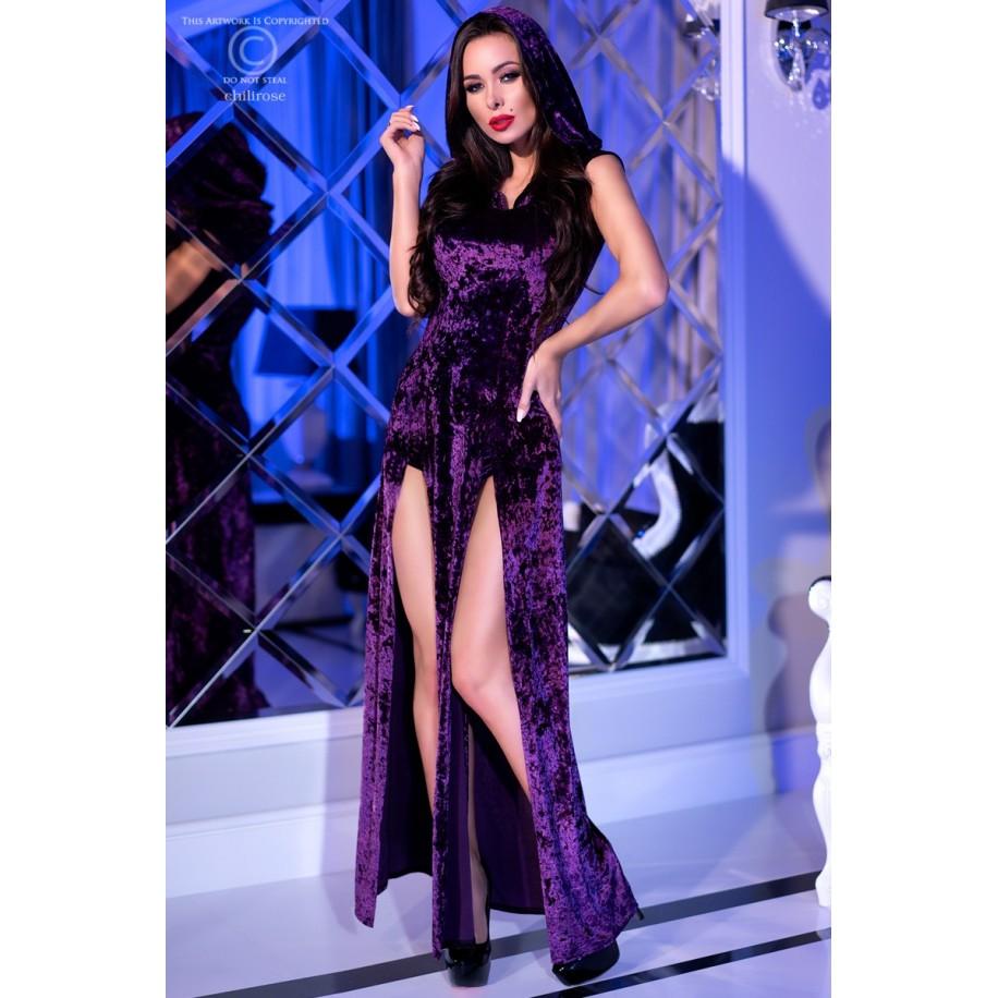 Kleid mit Kapuze CR4302 violett - 1