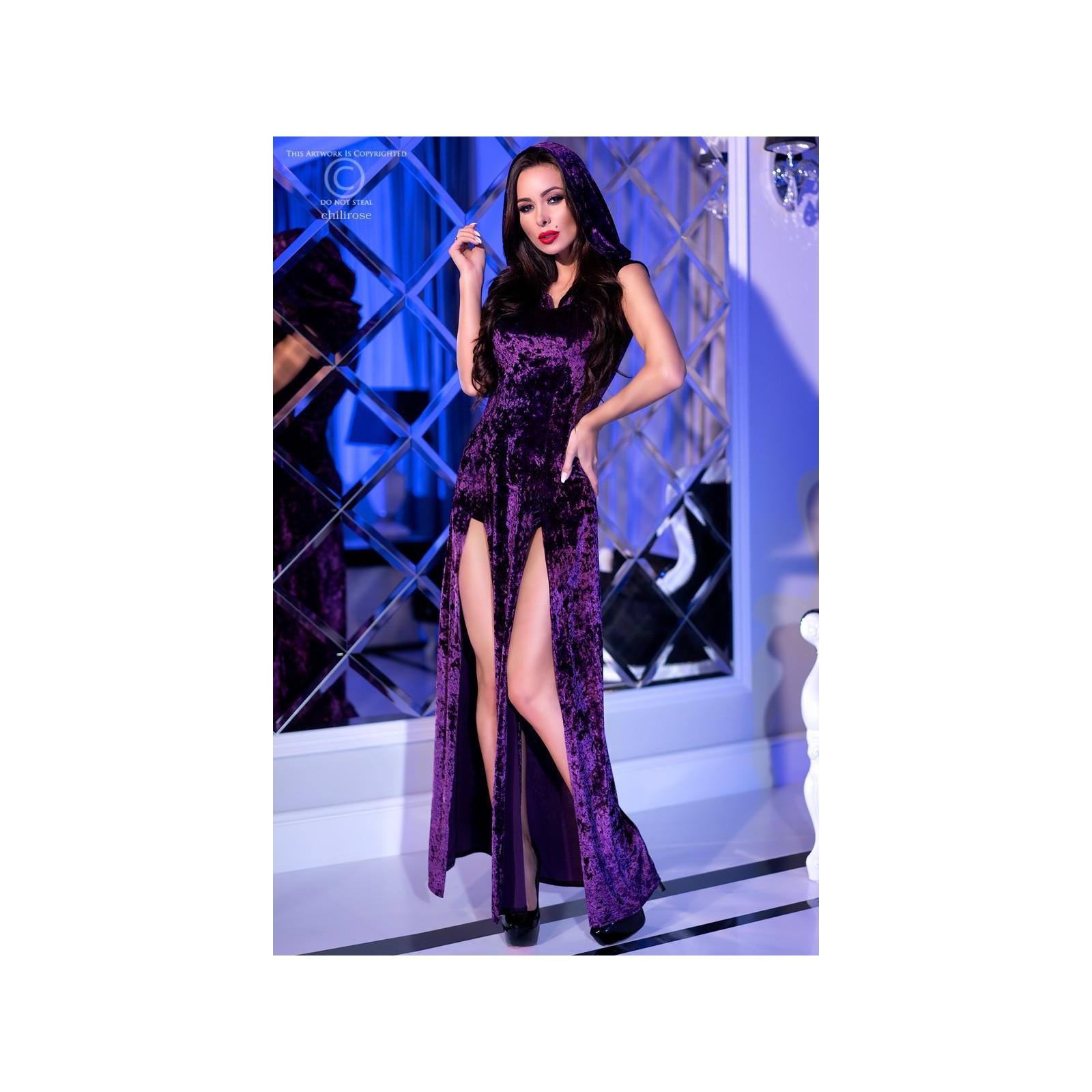 Kleid mit Kapuze CR4302 violett - 1 - Vorschaubild