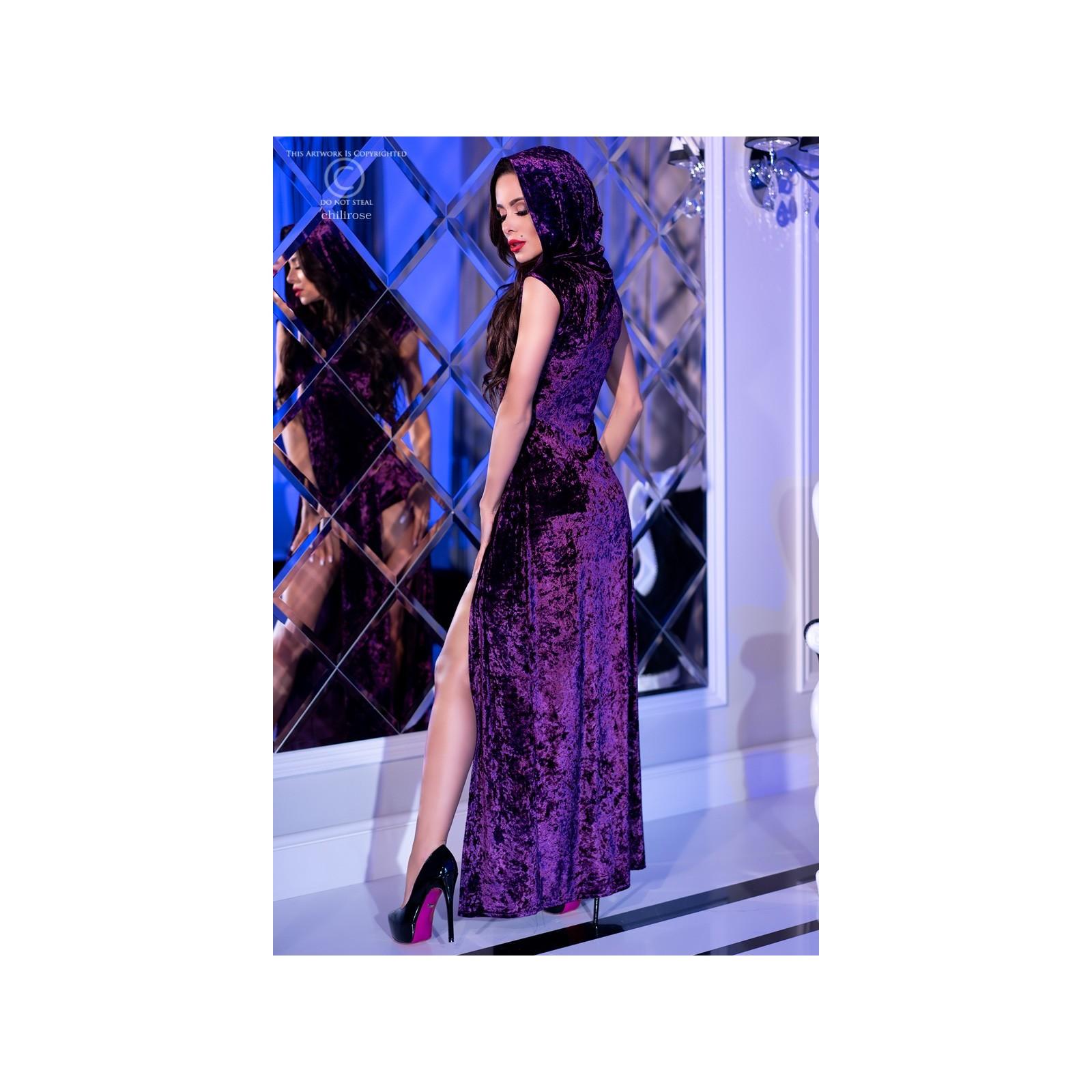 Kleid mit Kapuze CR4302 violett - 2 - Vorschaubild