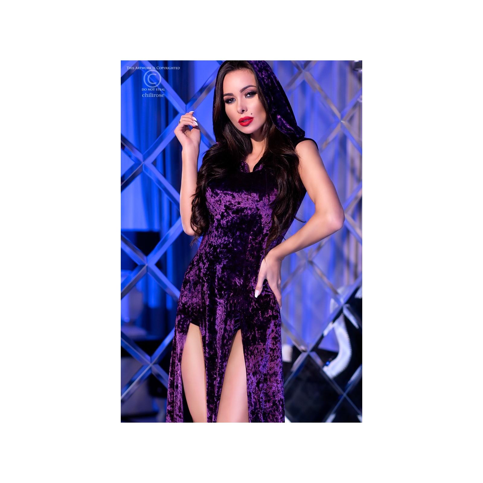 Kleid mit Kapuze CR4302 violett - 3 - Vorschaubild