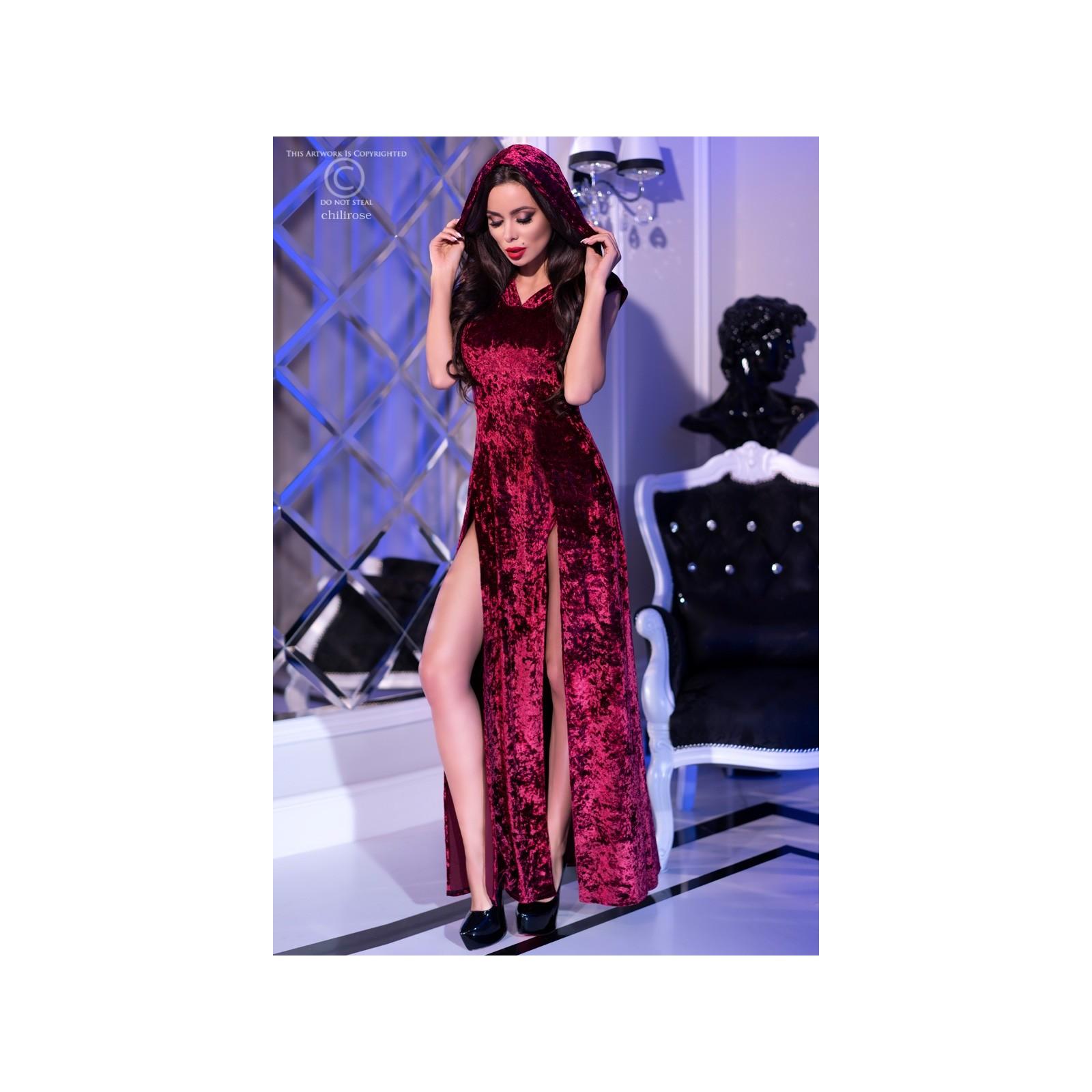 Kleid mit Kapuze CR4302 pink - 1 - Vorschaubild