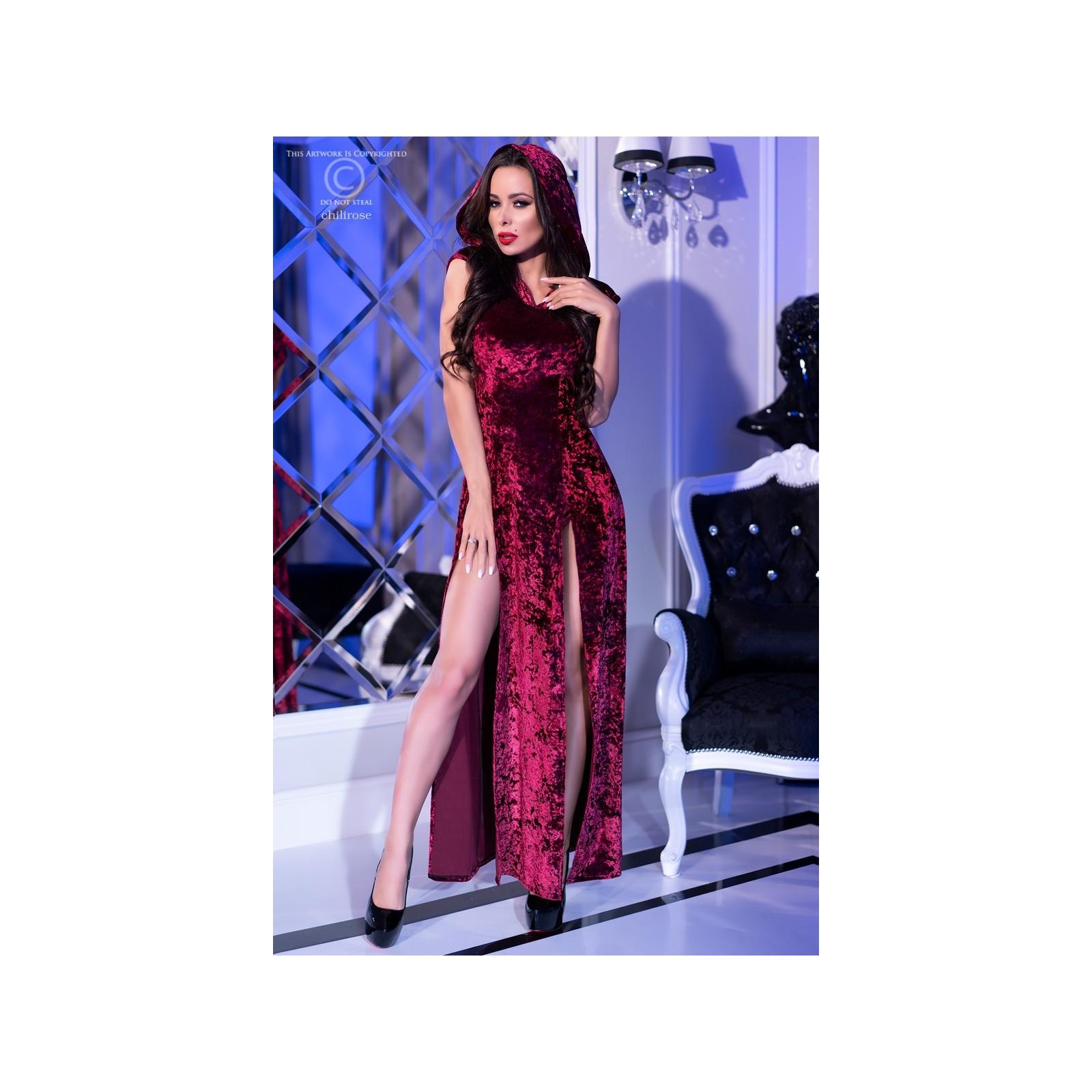Kleid mit Kapuze CR4302 pink - 3 - Vorschaubild