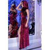 Kleid mit Kapuze CR4302 pink - 4