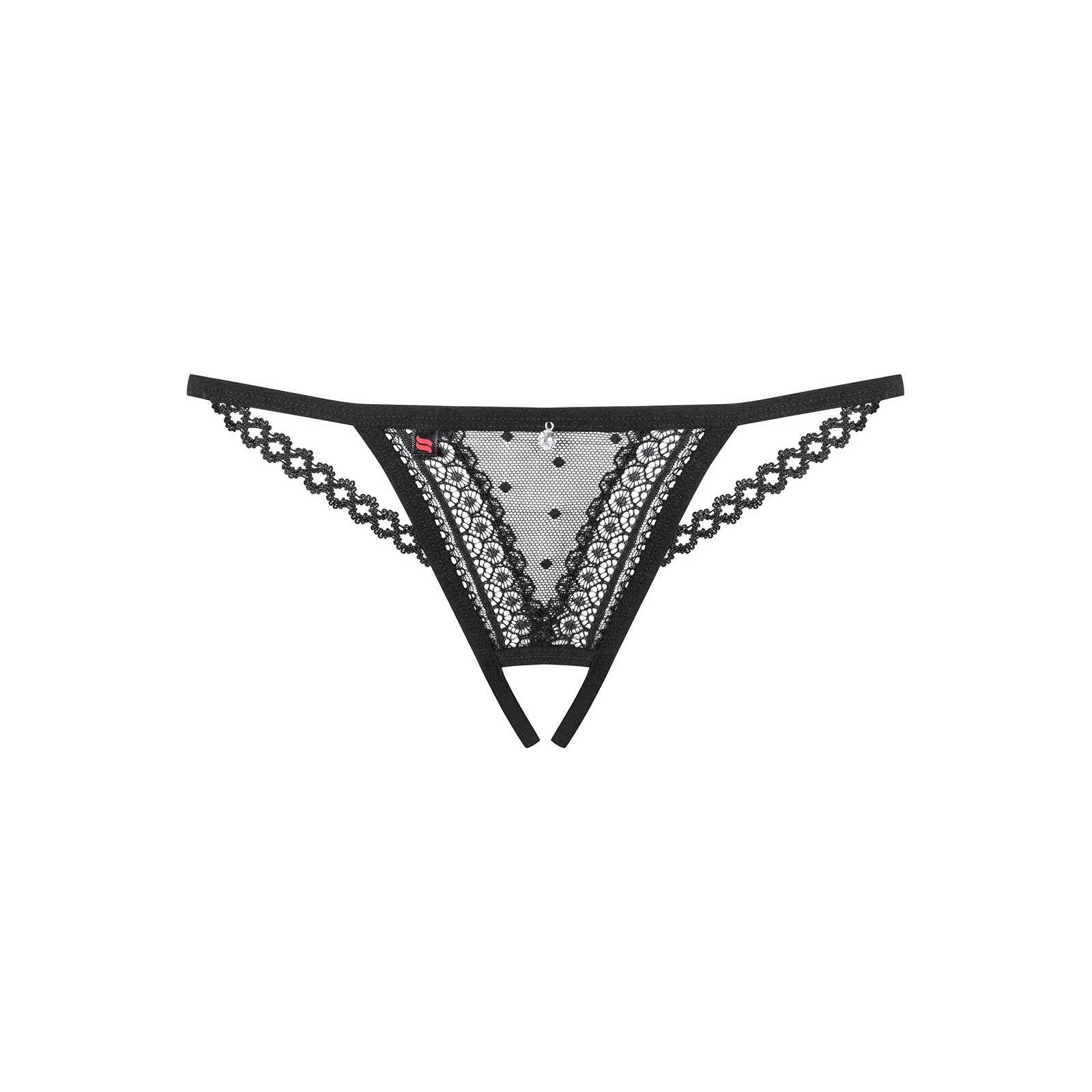 876-THC-1 Crotchless Thong schwarz - 7 - Vorschaubild