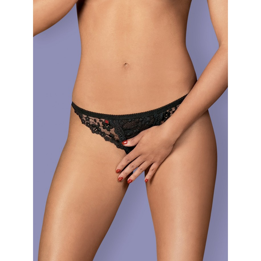 Letica Crotchless Thong - 1