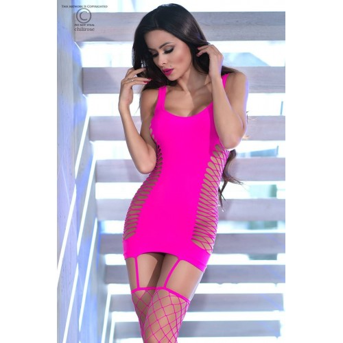 Nahtloses Minikleid CR4336 pink - 1