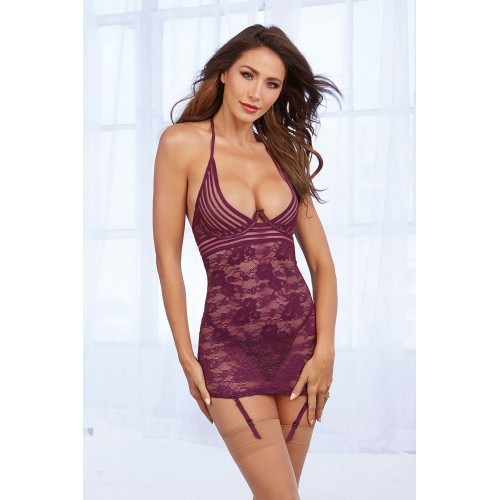 Chemise DR11843 mulberry - 1