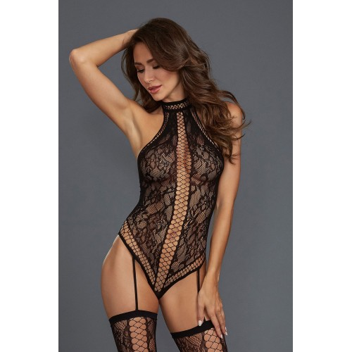 Bodystocking DR0329 schwarz - 1