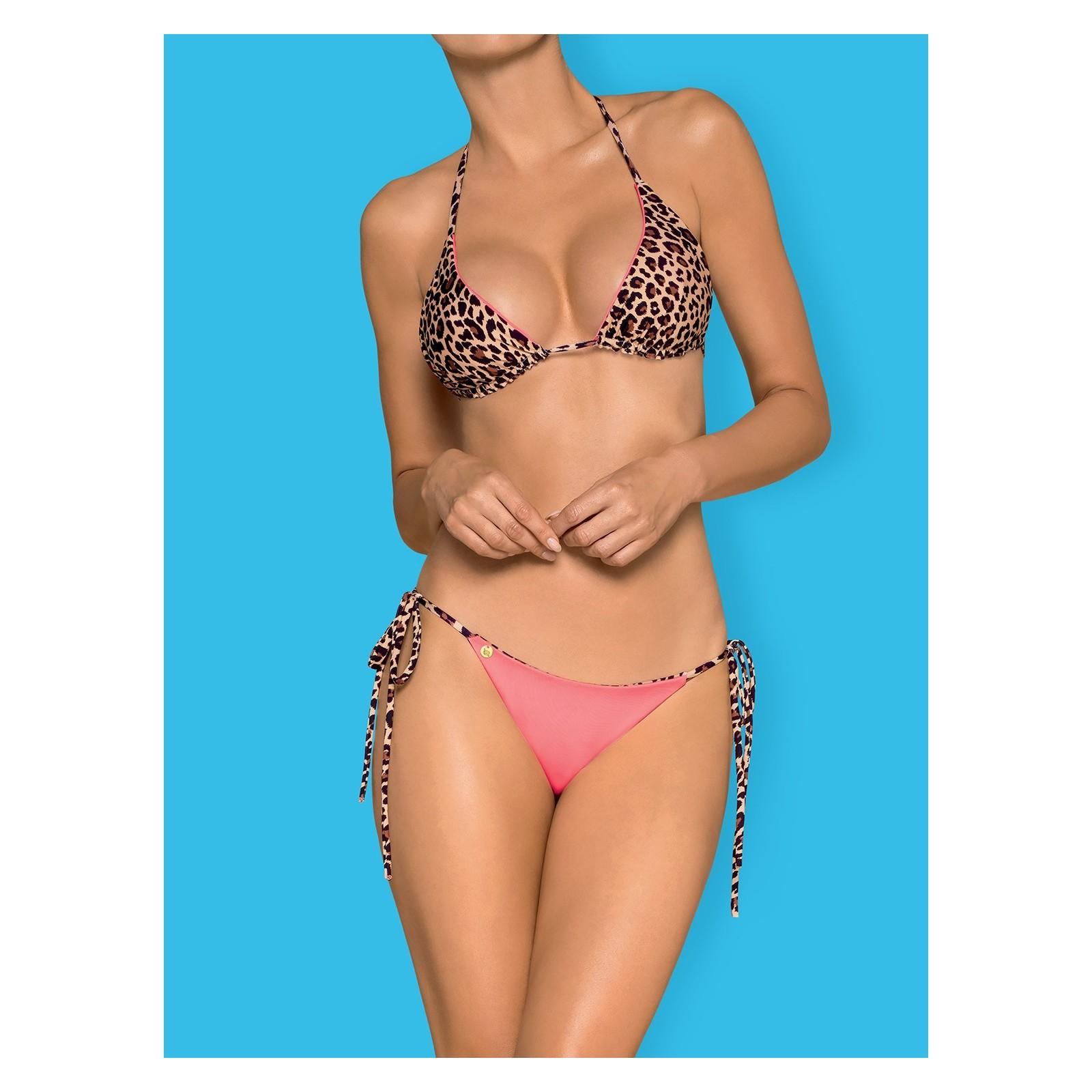 Bikini California rosa/leopard - 1 - Vorschaubild
