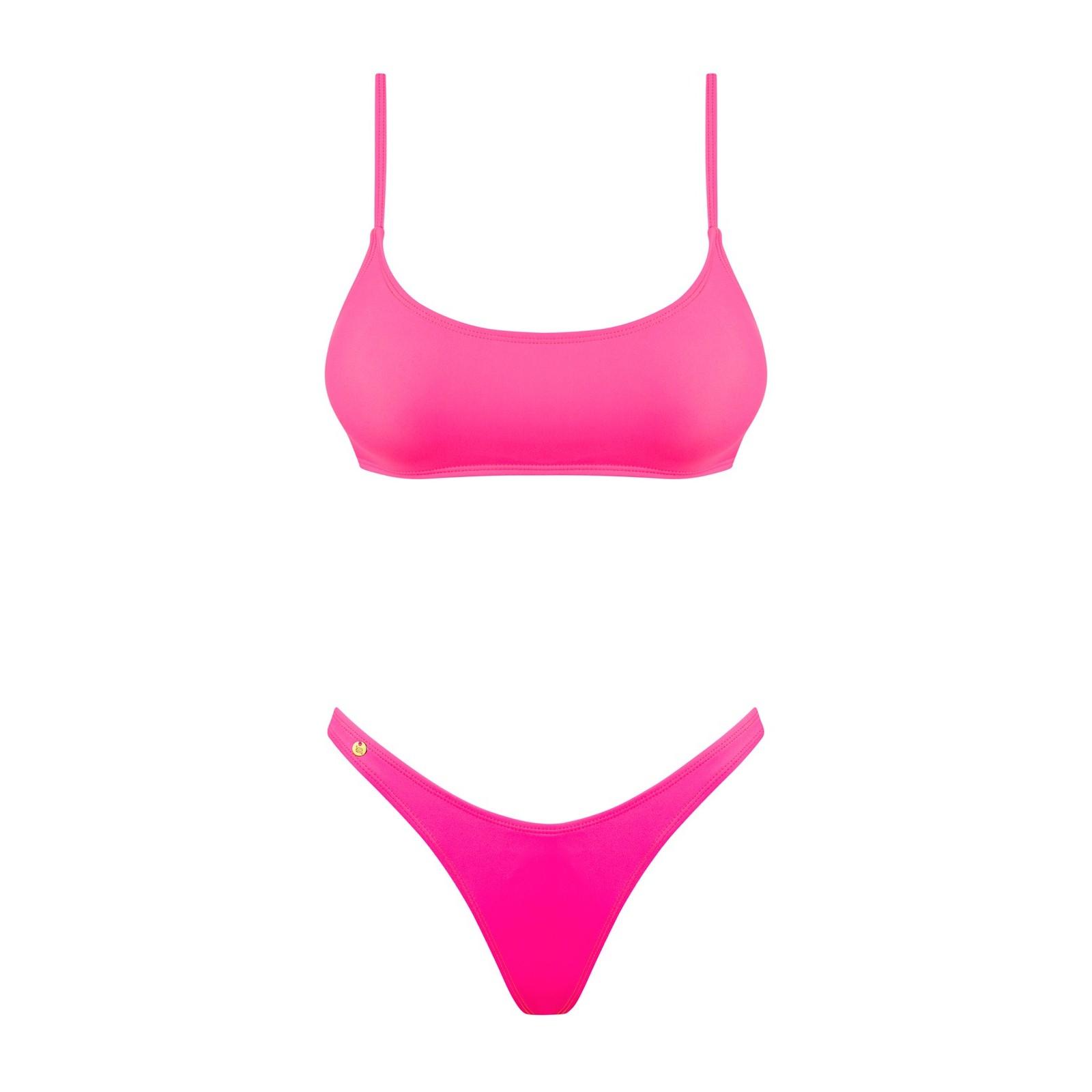 Bikini Mexico Beach neonpink - 3 - Vorschaubild