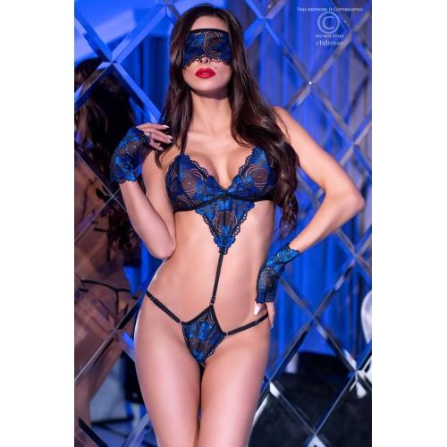 Erotik-Set CR4266 schwarz/blau - 1