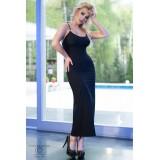 Langes Kleid CR4379 schwarz - 1