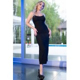 Langes Kleid CR4379 schwarz - 5